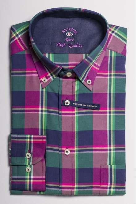 camisa oxford cuadros multicolor