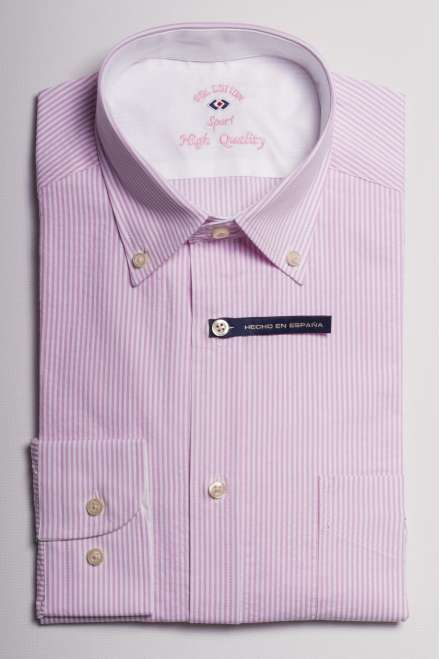 camisa raya kodak rosa seersucker