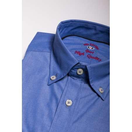 camisa popelina azul indigo