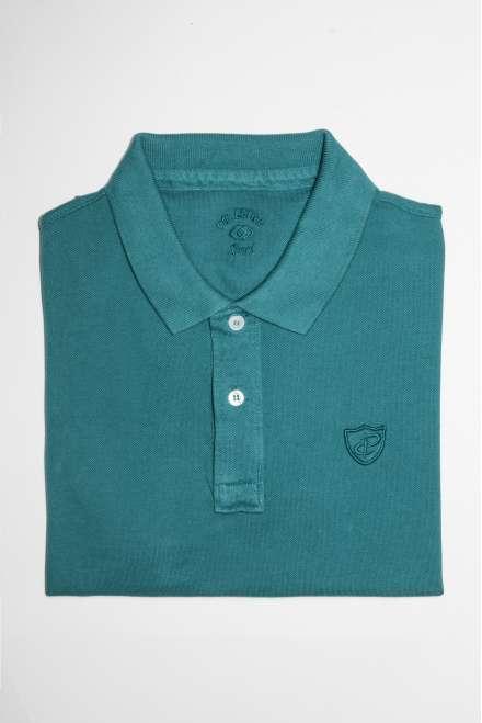 Polo slim fit verde turquesa