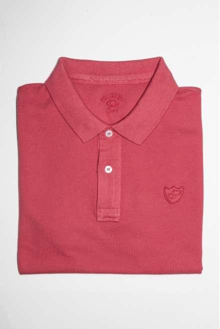 Polo slim fit rojo rubí