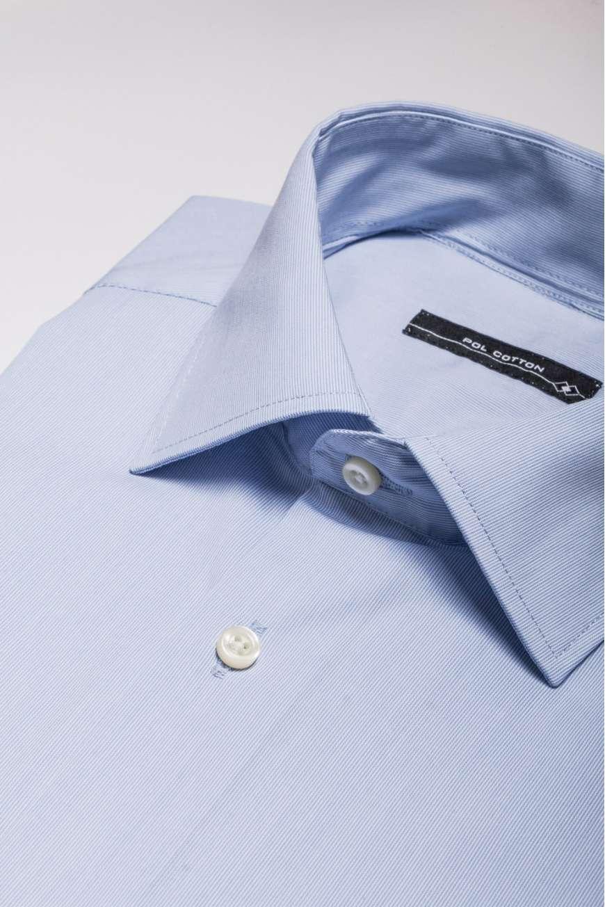 Camisa vestir Confort line azul microraya