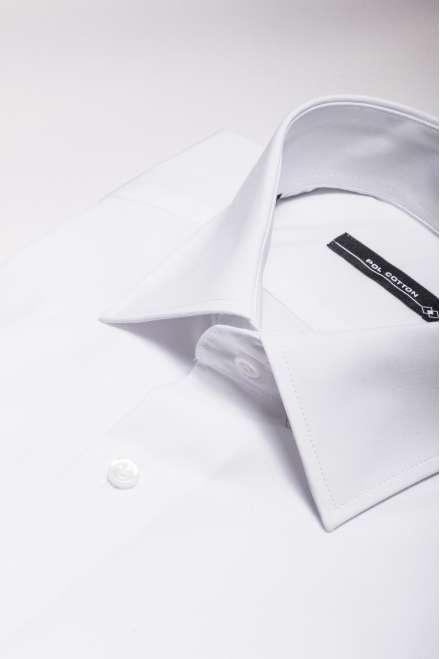 Camisa Confort line cuello y puño clásico blanco