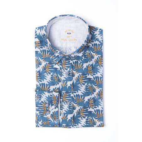 Camisa hojas sobre espigas
