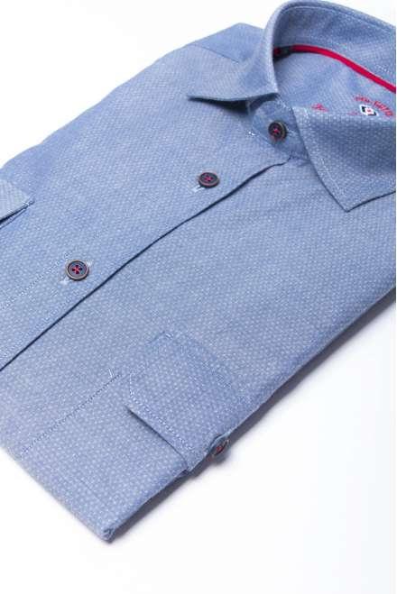 Camisa denim clara dos bolsos