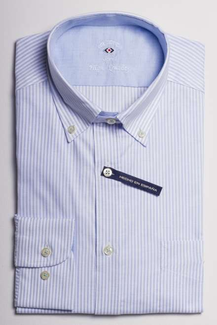 camisa oxford raya kodak azul