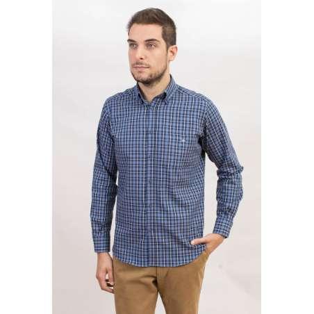 Camisa tartán azules