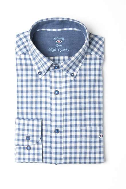 Camisa vichy azul, button down