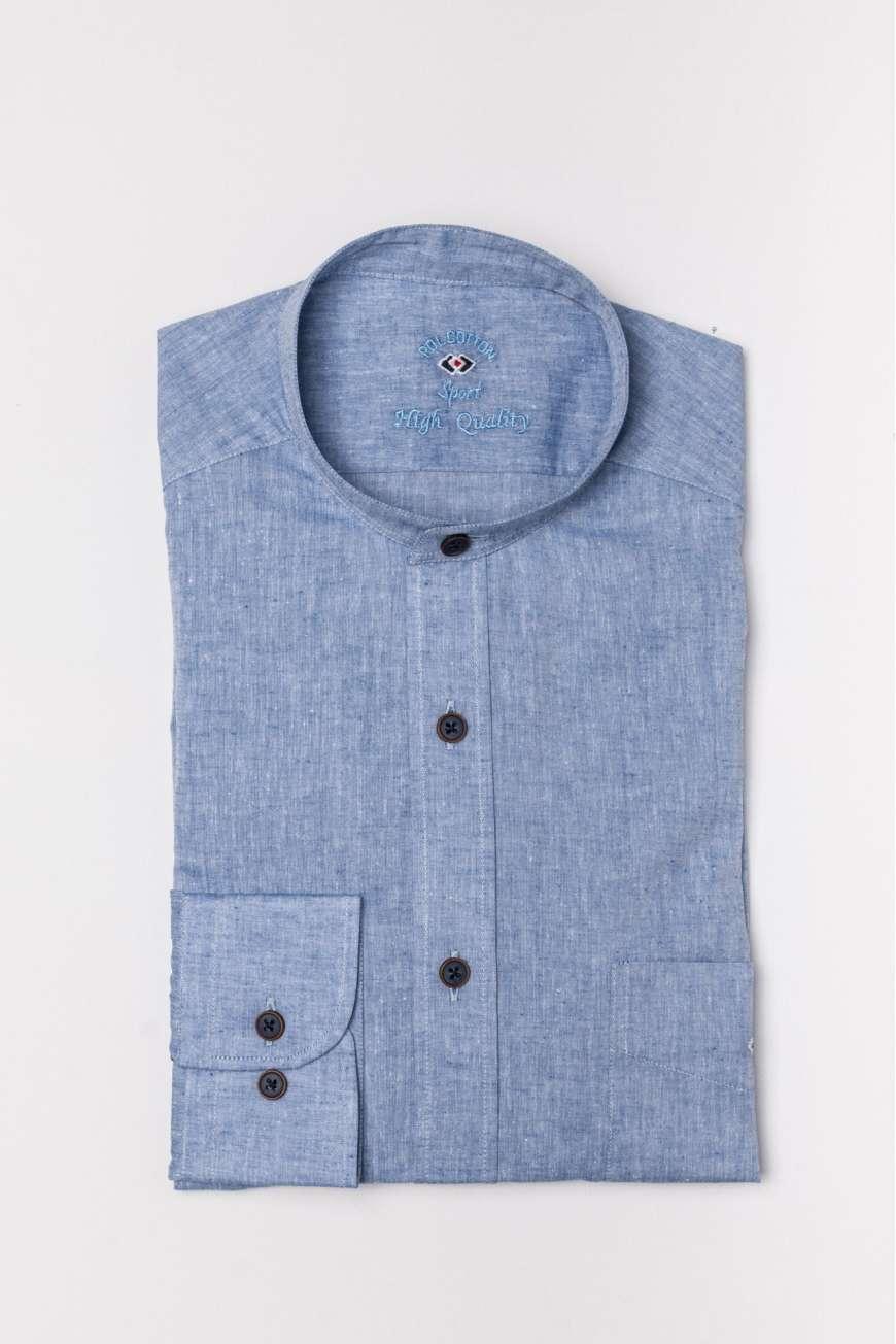 Camisa mao cotton linen liso