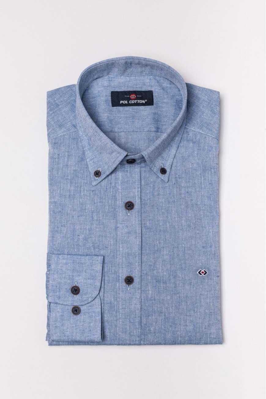 Camisa sin bolsillo cotton linen