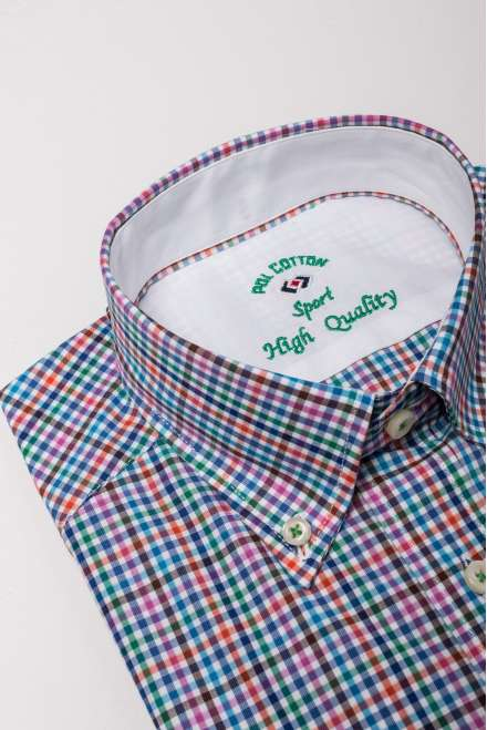 Camisa tmaison cuadro multicolor