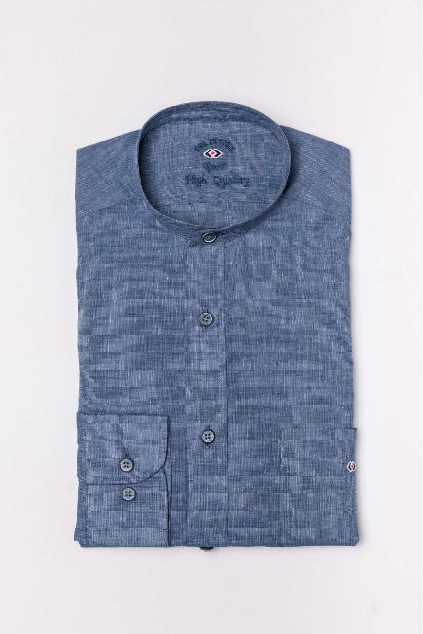 Camisa mao fil&fil azul