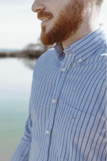 Camisa fil&fil kodak marino