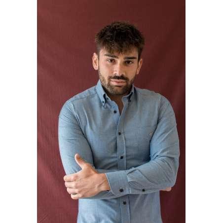 Camisa tejana clara button down