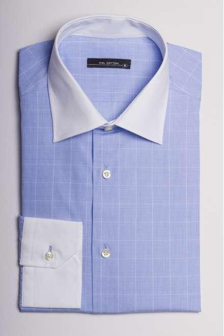 camisa cuello blanco y puños blancos