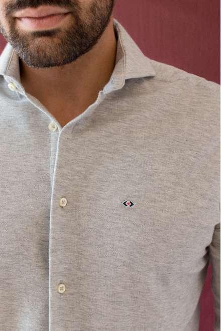 Camisa lisa gris