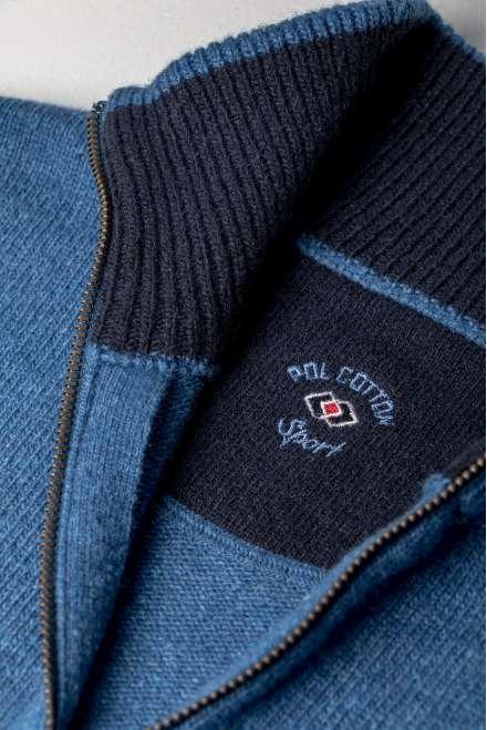 Sueter lana cuello Perkins azul indigo