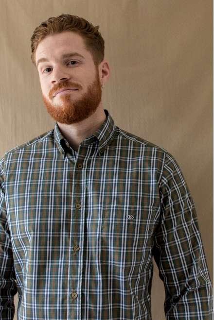 Camisa tartán verde