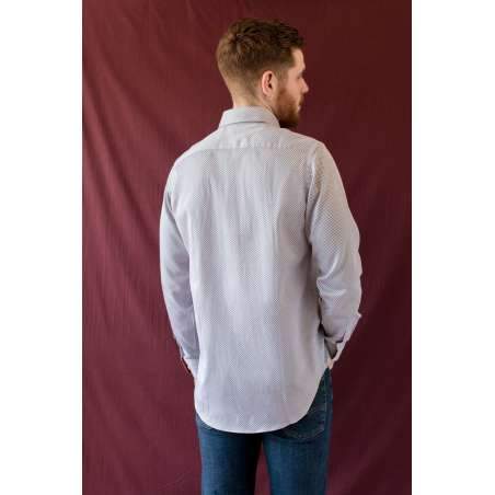 Camisa estampado geométrico azul