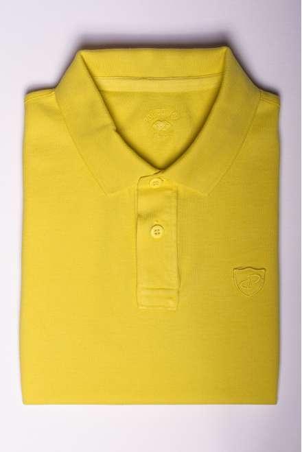 polo piqué 100% algodón amarillo