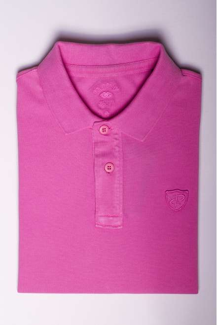 polo piqué 100% algodón rosa