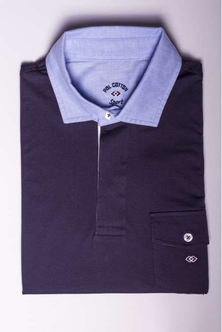 polo jersey 100% algodón marino