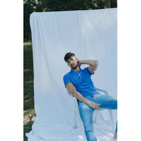 Polo slim fit azul rey