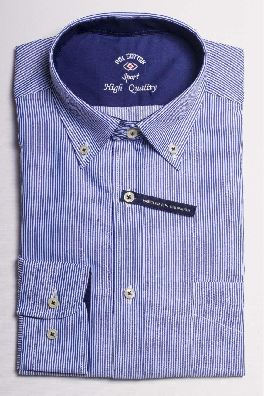 camisa mil rayas azul marino