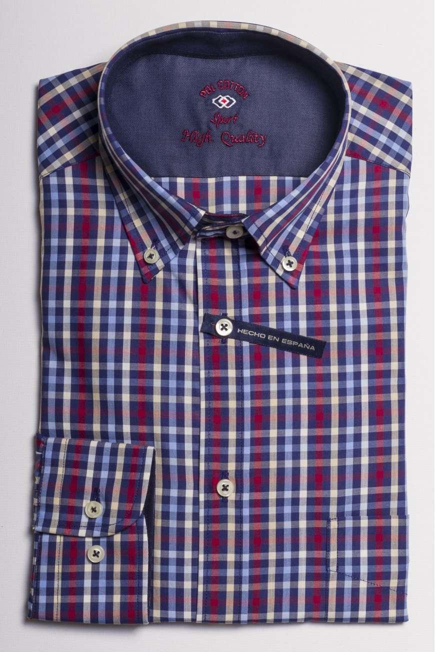 camisa cuadros multicolor